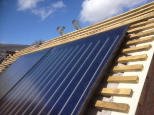 Solar Thermal Panels install in progress – Yockleton, Shrewsbury